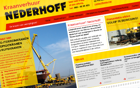 Spin-off website Kraanverhuur Nederhoff